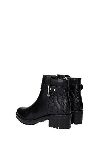 9250426A40800020 Armani Jeans Chaussure mi montantes Femme Cuir Noir Noir