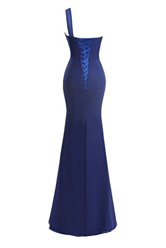 Fanciest Damen One Shoulder Split Dresses Lang Ball Kleider Meerjungfrau Kleider Champagne Red