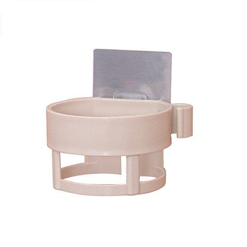 étagère douche le plastique sèche - cheveux, rack, salle de bains, la perforation libre, aspiration wall,rose