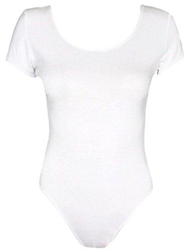 d18f275319 Red Olives® Womens Ladies Plain Cap Sleeve Scoop Neck Leotard Top Stretch T-Shirt  Bodysuit UK 8-14 (12 14