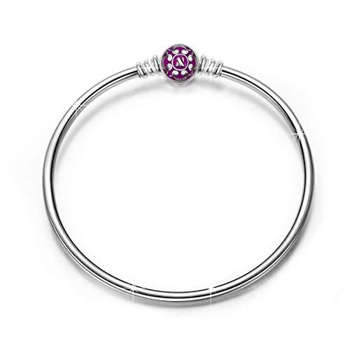 NINAQUEEN Armband Frauen Lila Schmuck für Frauen Silber 925 Emaille Armreif Geschenk für Frauen Mädchen Geburtstagsgeschenk für Frauen Mutter Ehefrau Freundin