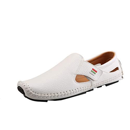 ASHOP Walkingschuhe,Herren Sommer Wild Erbsen Schuhe Fahren EIN Pedal Faul LäSsig Business Magische Aufkleber Schuhe Hohlen Atmungsaktiv Bequeme Einzelne Schuhe