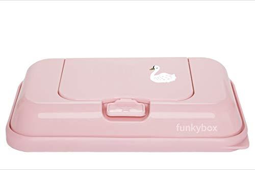 Funkybox To Go Cisne Feuchttücherbox, Unisex, Rosa