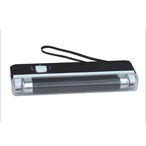 Bewegliche Hand Geld-Detektor UV-Lampe Forge Geld-Test Geldscheinprüfer Batteriebetriebene LED-Taschenlampe (schwarz)