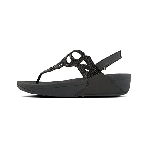 Fit Flop Bumble Crystal Tm Sandal, Infradito Donna, Nero (Black 001), 39 EU