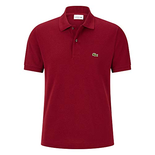 Lacoste L1212 Herren Polo Shirt Kurzarm,Männer Polo-Hemd,2 Knopf,Regular Fit,Pinot(Z7F),X-Large (6) - Lacoste Langarm-polo-shirt