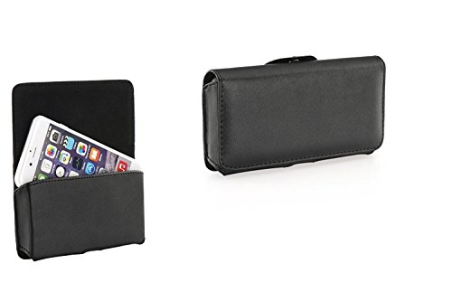 Preisvergleich Produktbild Premium Handytasche Quertasche Gürteltasche passend für Huawei Honor 6A - Handy Schutz Hülle Outdoor Case Cover Etui schwarz