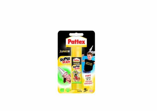 Pattex Junior Super stick Tube de colle Transparent - Super stick 43g - lot de 12