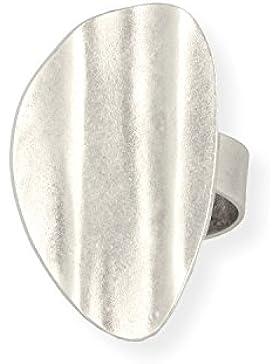 Ring DANA-2 - zeitloses Design mit Echtsilber-Plattierung in Altsilber-Optik von Roberto Leonardi