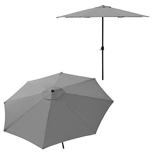 floristikvergleich.de [casa.pro] Sonnenschirm (Ø300cm)(Aluminium) Kurbel / Schirm / Marktschirm / Gartenschirm / Garten