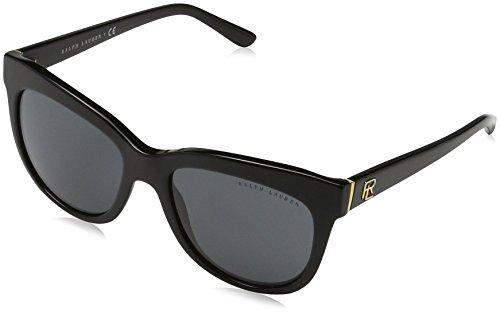 Ralph lauren 0rl81580187, occhiali da sole donna, nero (black/gray), 54