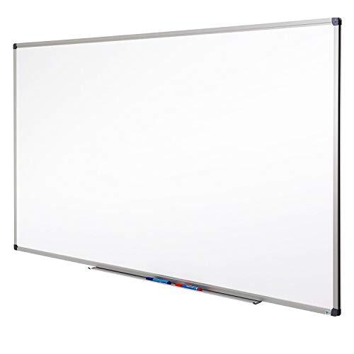 MOB Whiteboard - Sieger Preis-Leistung (Note 1,4) - 13 Größen - magnetisch und beschreibbar - Magnettafel Magnetwand - mit Aluminium-Rahmen, Stiftablage - für Hoch- und Querformat - 60 x 90 cm
