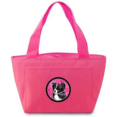 Border Collie-Borsa termica per il pranzo, colore: rosa o Doggie SC9138PK Bag