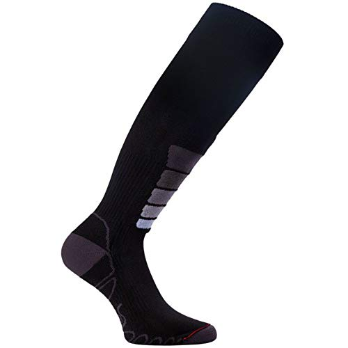 Eurosocks Unisex Compression Plus Ski-Socken, dunkel, Large -