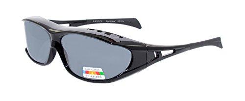 rainbow safety Überzieh-Sonnenbrille für Brillenträger Schutzbrille für Sport Radfahren Skifahren Angeln Auto Überbrillen Nachtsichtbrille Polarisierte Gläser RWN20 (Die Sonne Cat.3)
