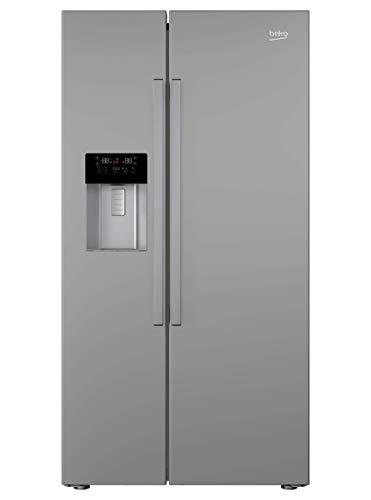 Beko GN162330XB Side-by-Side Kühl-/Gefrierkombination / 516 l Nutzinhalter/No Frost / 0°C-Zone/Active Dual Cooling/Edelstahllook (Brushed Silver)