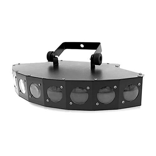 ⏰WTD 8 HD Lens Sector LED Luz de Haz, 2 Sonido Modo Activo Color Disco Escenario Fiesta Fiesta Luz Cristal Bola Efecto Proyector, Control Remoto para el hogar DJ Pub Bar Club Proyector Luz