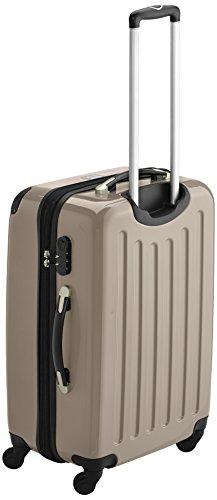 HAUPTSTADTKOFFER - Alex - 2er Koffer-Set Hartschale glänzend, 65 cm, 74 Liter, Graphit-Schwarz Champagner-Apfelgrün