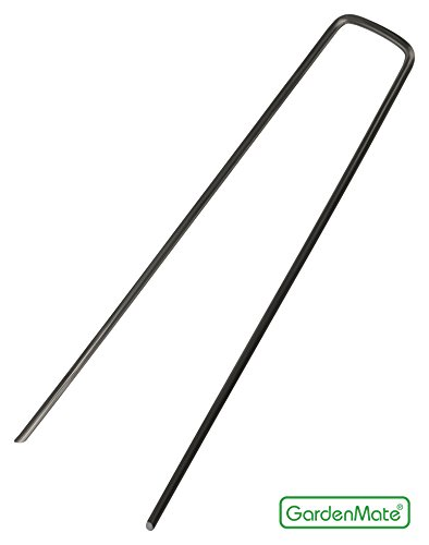 GardenMate 100 Erdanker 150mm lang, 25mm breit aus Stahldraht Stärke 2,3mm, 100 Stück - 2