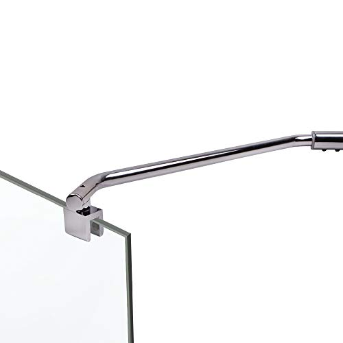 Haltestange Duschabtrennung gebogen 35,5 cm für Glasstärken bis zu 8 mm