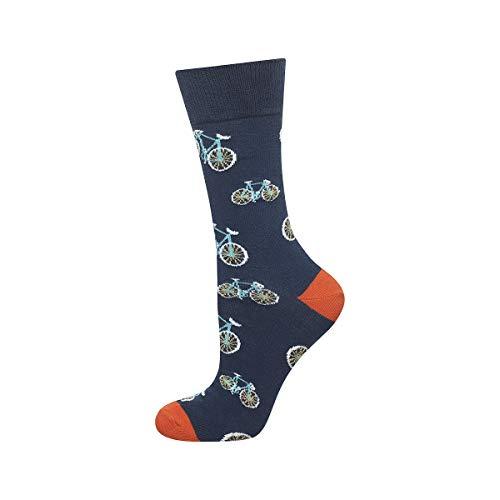 soxo Bunt Gemusterte Herren Socken | Lustige Motivsocken aus Baumwolle | Größe 40-45 (Fahrräder)