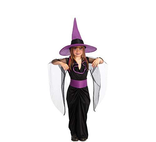 Guirca Elegantes Kinder Hexen Kostüm Gr. 110-146, - Elegante Hexe Kind Kostüm
