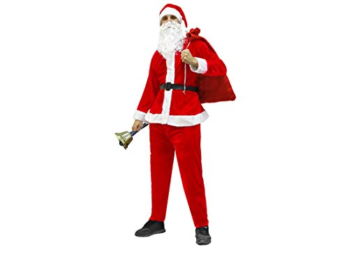 Set Travestimento da Babbo Natale con Sacco per i Doni e Campanella Santa  Claus 97e7869dd969