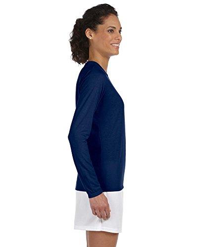 Frauen Gildan Performance Langarm-T-Shirt Navy