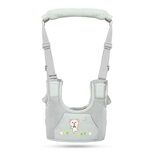rngurt Sicherheitsleinen Gehender Assistent Kleinkind Zu Fuß Lernen Abnehmbarer Griff Auffanggurt Für Baby 8-48 Monate,Breathablegreen ()