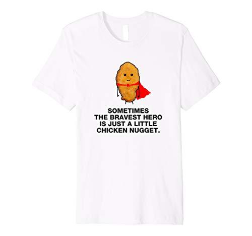 Funny Super Hero Chicken Nugget T-shirt Geschenk (Kinder Chicken Kostüm)