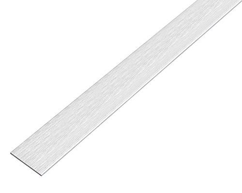 GAH-Alberts 488789 Flachstange - selbstklebend, Aluminium, edelstahldesign, hell, 1000 x 20 x 2 mm