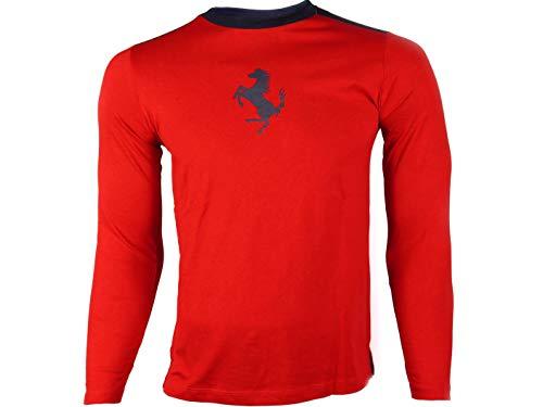 Ferrari - Camiseta de Manga Larga - para Hombre Rojo L