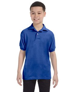 Jugend Kurzarm Stricken Tag-Free Label Polo Jersey, tief Royal, klein - Jugend Jersey Polo