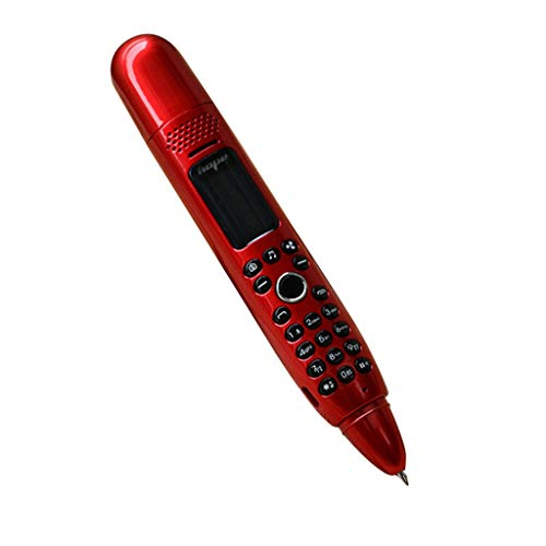 Saingace(TM) 2019 HOT !!! Neue Mobiltelefone für Senioren, Fan Pen Mini Handy GSM Dual SIM Kamera Dialer Handys,3 in 1 Handy + Fan + Stift Kreative Handy (Rot)