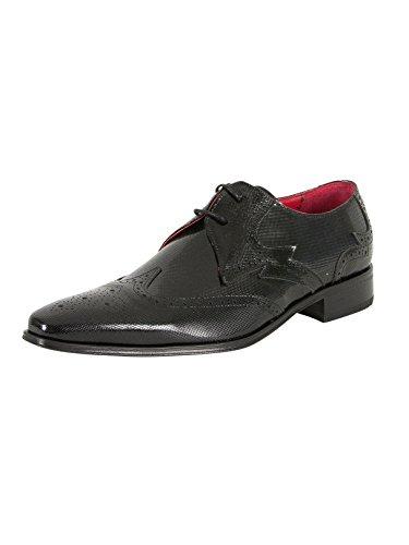 Jeffery West Homme Chaussures Imprimé Yardb, Noir Noir