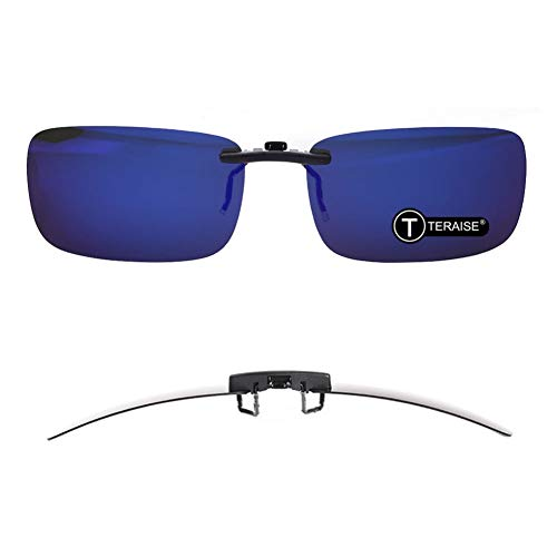 TERAISE Polarized Clip-on Sunglasses Over Prescription Glasses Anti-Glare UV402 for Men Women Driving Travelling Outdoor Sport ...