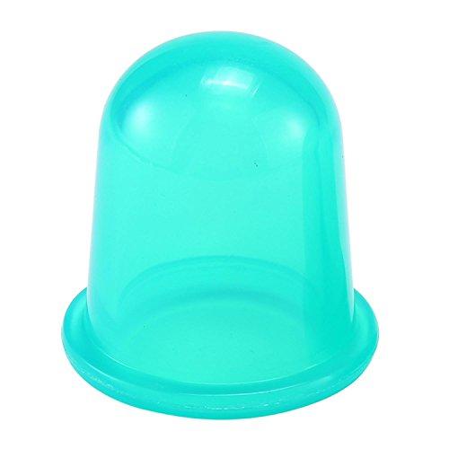 (Aolvo Vakkum-Schröpfglocke aus Silikon zur Körpermassage und Anti-Zellulitis-Behandlung, Schmerzbehandlung, Entspannung und Stressabbau,1 Stück, transparent, grün, 1 Stpck)