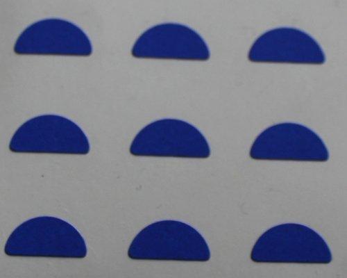 150 Etiquetas, 10x5mm Half Moon Forma, Azul, pegatinas autoadhesivas, Minilabel Formas
