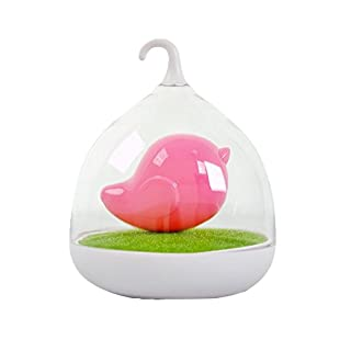 Artis Portable LED Bird Cage Lamp One Touch Dimmable Rechargeable Bedroom Night Light - Pink