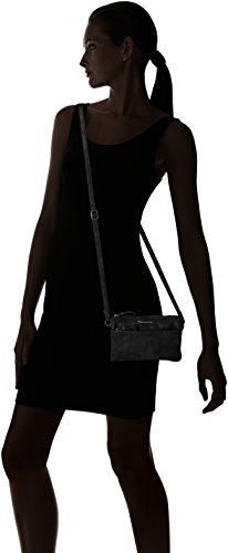 Tamaris Damen Franca Crossbody Bag S Umhängetasche, 12x6x20 cm Schwarz (Black)