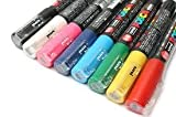 POSCA PC-1M Pigment-Marker, ausgewählte Farben, 8 Stück