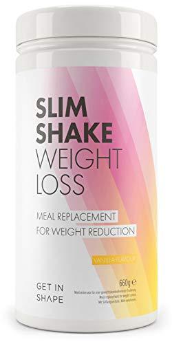 Slim Shake - der Shape Shake und Abnehm Shake (Diät Shakes) - Mahlzeitersatz mit dem Eiweiß Shake (Vanille) - von Get In Shape