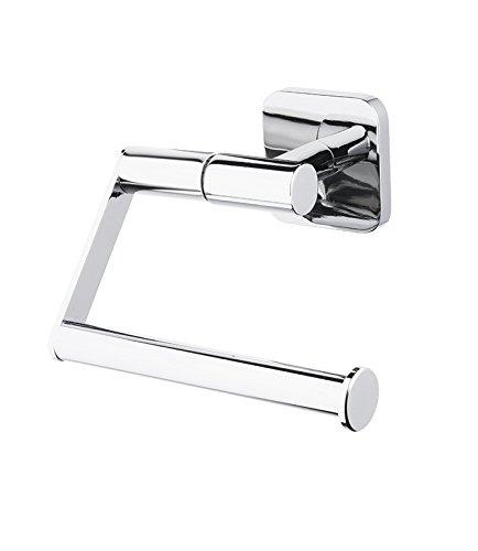 Bisk Forte Gamme Easy Fit Vis ou Colle pour Rouleau de Papier Toilette, Zinc, Aluminium et Acier Inoxydable, Chrome, 13.8 x 6 x 11.5 cm