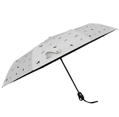 Hzhy Double-Layer-UV-Schutz Vinyl Regenschirme High-End-Automatik Dreifach UV-Regenschirme (Farbe :...