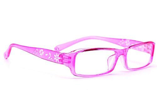 NEW UNISEX (Damen Herren) Flower Blumen Retro Vintage Lesebrille Brille +0.50 +0.75 +1.0 +1.5 +2.0 +2.5 +3.00 +4.00 Reading glasses Morefaz(TM) (+0.75, Pink)