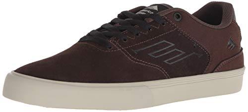 Emerica 6102000096, Chaussures de Skateboard pour Homme Gris foncé/Noir/US Frauen - Marron - Marron, 42 EU