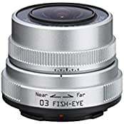 Pentax 03 Fish-Eye Objektiv für Q-Serie-Kamera (3,2mm, F5.6) silber