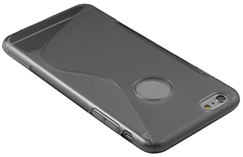 mumbi Hülle für iPhone 6 Plus 6s Plus transparent schwarz S