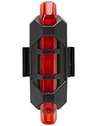 Vovotrade - Nuevo Ciclismo 5 LED USB Recargable Bicicleta Lámpara Cola Advertencia Ligero Posterior La Seguridad (Rojo)