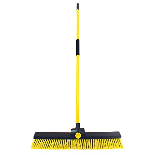 Charles Bentley Heavy Duty Bulldozer Yard Brush - Color: Yellow